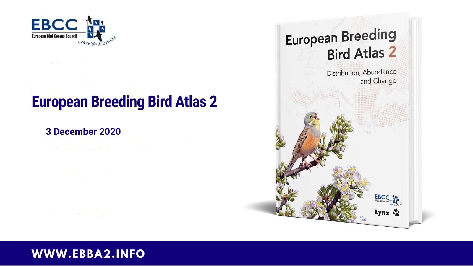 A fost publicat noul Atlas European al Păsărilor Cuibăritoare – o bornă în cercetarea biodiversității și conservării naturii din Europa